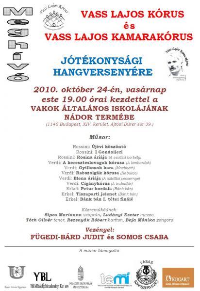 Közös koncert a Nádor Teremben 2010.10.24.